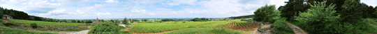 Panorama de Fixey juin 2010